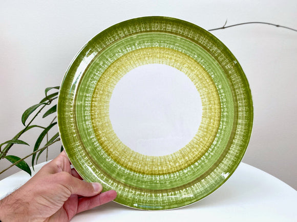 Claridge Ironstone (Japan) 'Aurora Green' large round serving platter