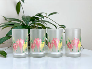 Vintage drinking glasses (x4)