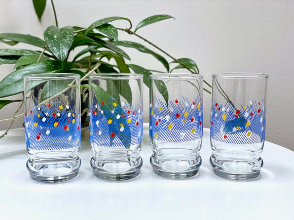 Aderia Glass (Japan) tumbler glasses (x4)