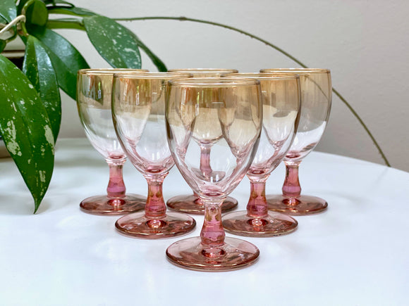 Crown Crystal Glass (Australia) sherry glasses (x6)