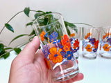 Covetro (Italy) floral high-ball glasses (x4)