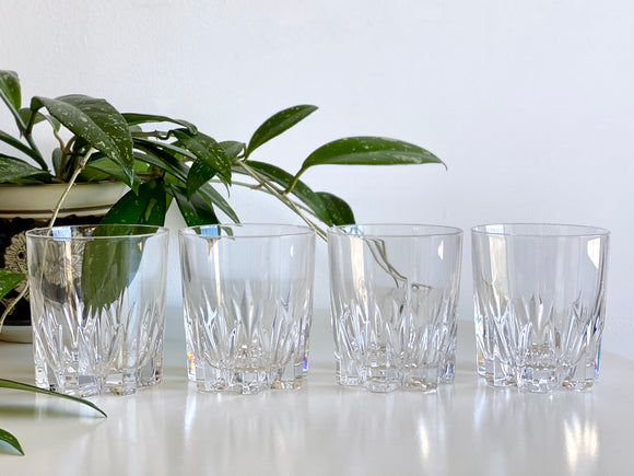 Vintage crystal old fashioned glasses (x2)