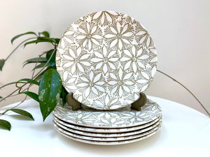Crown Lynn (New Zealand) 'Clematis' entree plates (x6)