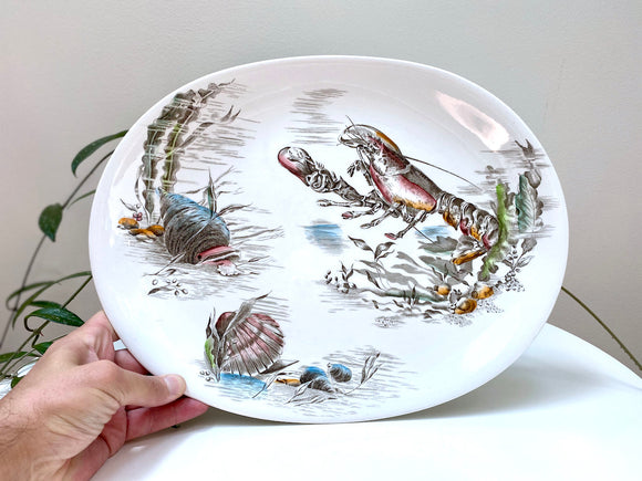 Johnson Bros (England) 'Seafare' large oval serving platter
