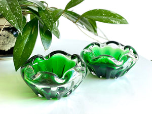 Vintage hand-blown glass ashtray [sold separately]