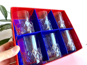Bohemia Crystal (Czech Republic) 'Bristol' crystal old fashioned glasses (x6) - - original packaging!