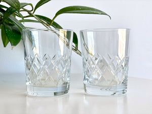 Bohemia Crystal (Czech Republic) crystal old fashioned glasses (x2)