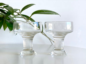 Crown Corning (Australia) 'Oslo' champagne coupe glasses (x2)