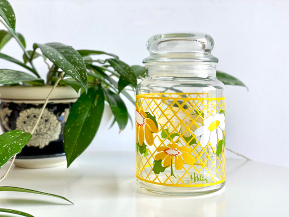 Anchor Hocking (USA) 'Hildi' designed glass storage jar / canister