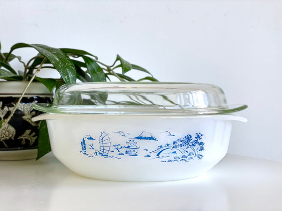AGEE / CROWN PYREX 'Willow' 2.25L Round Casserole