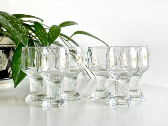 Crown Corning (Australia) 'Oslo' sherry glasses (x6)