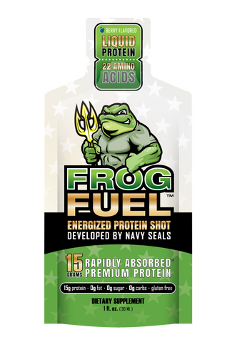 Frog Fuel Protein Energized Gel, 1 Box, 24 1-oz Serving Shots