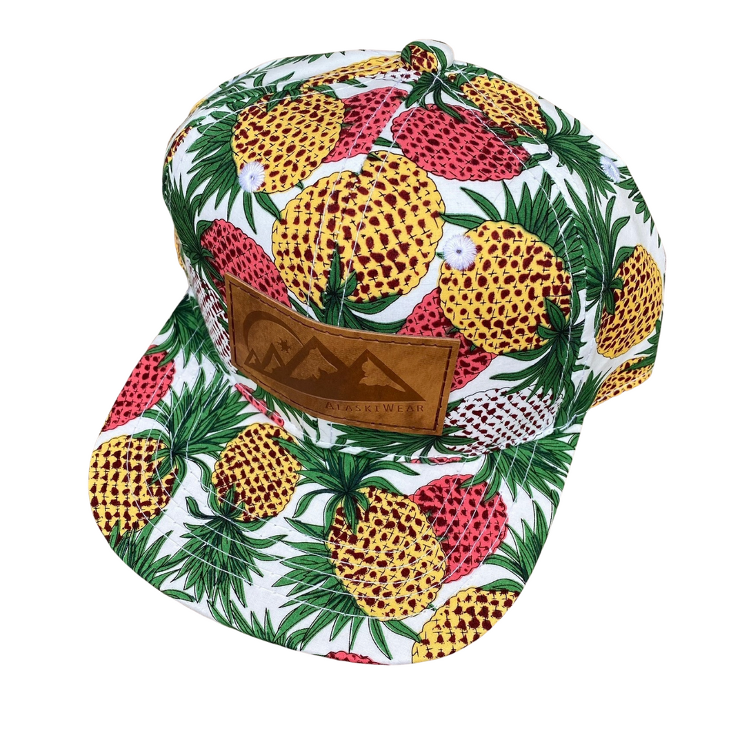 AlaskiWear Infant/Tot Trucker Hat - White Pineapple