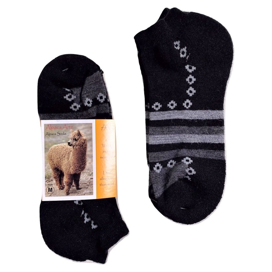 Alpaca Ankle Sock - Black