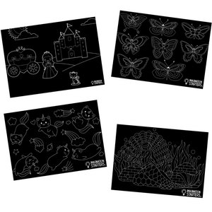 "Whimsy Chalkboard Placemat Set (12"" x 17"")"
