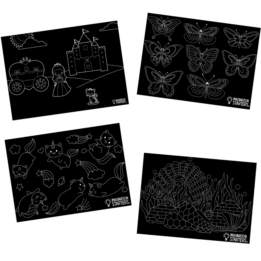 Whimsy Chalkboard Placemat Set (12