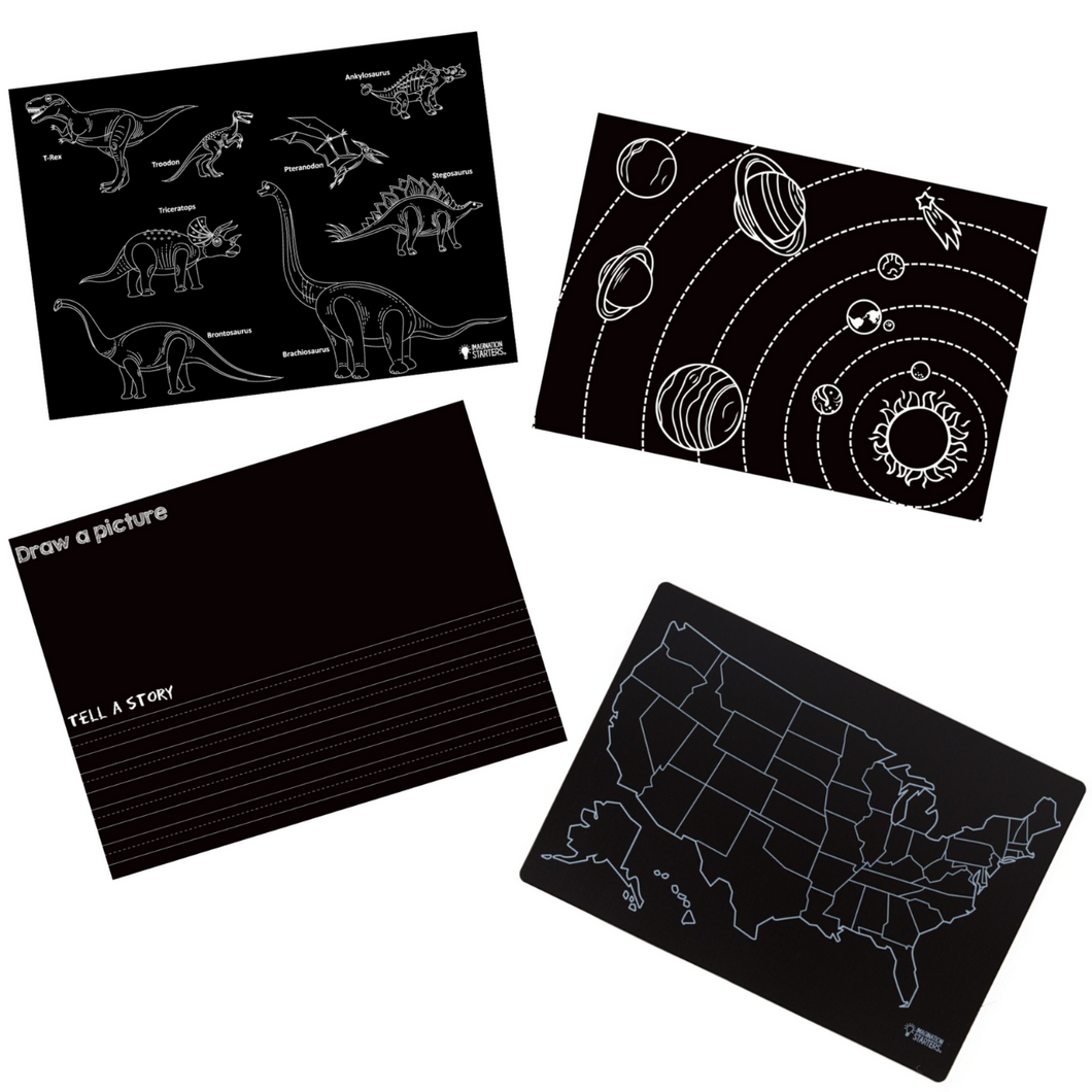 Learning Chalkboard Placemat Set (12