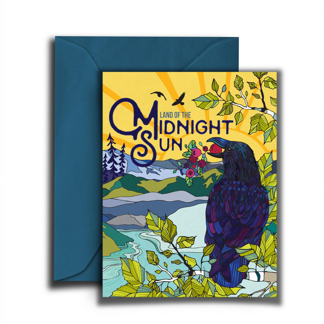 Midnight Sun Notecard