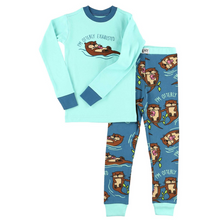 Load image into Gallery viewer, Otterly Exhausted Kid's Long Sleeve PJs