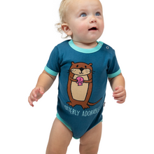 Load image into Gallery viewer, Otterly Exhausted Infant Creeper Onesie