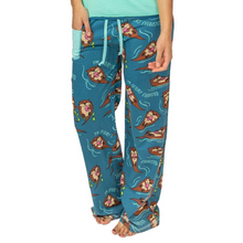 Load image into Gallery viewer, Otterly Exhausted Women's Fitted Pant
