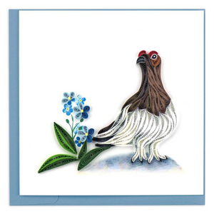 Quilled Willow Ptarmigan Greeting Card