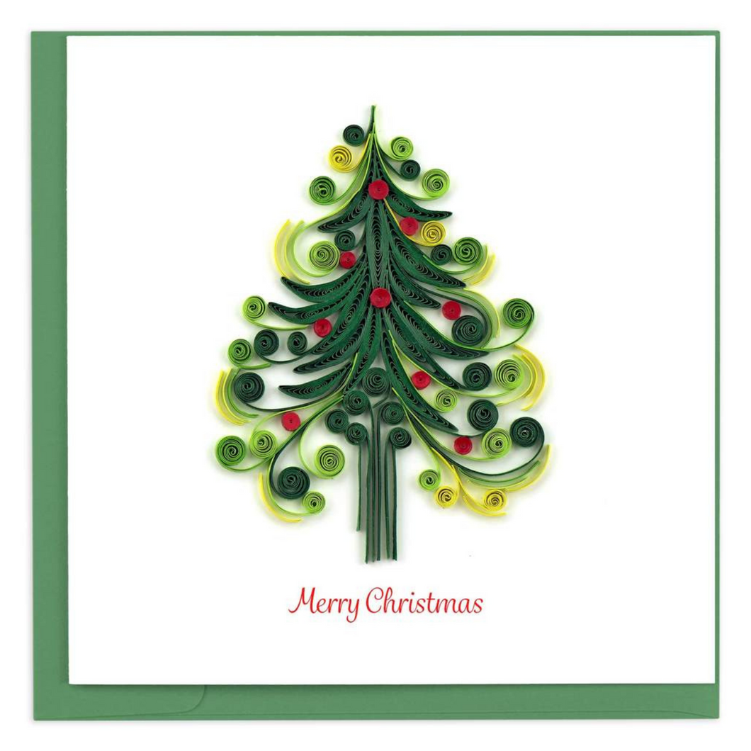 Quilled Christmas Tree Greeting Card