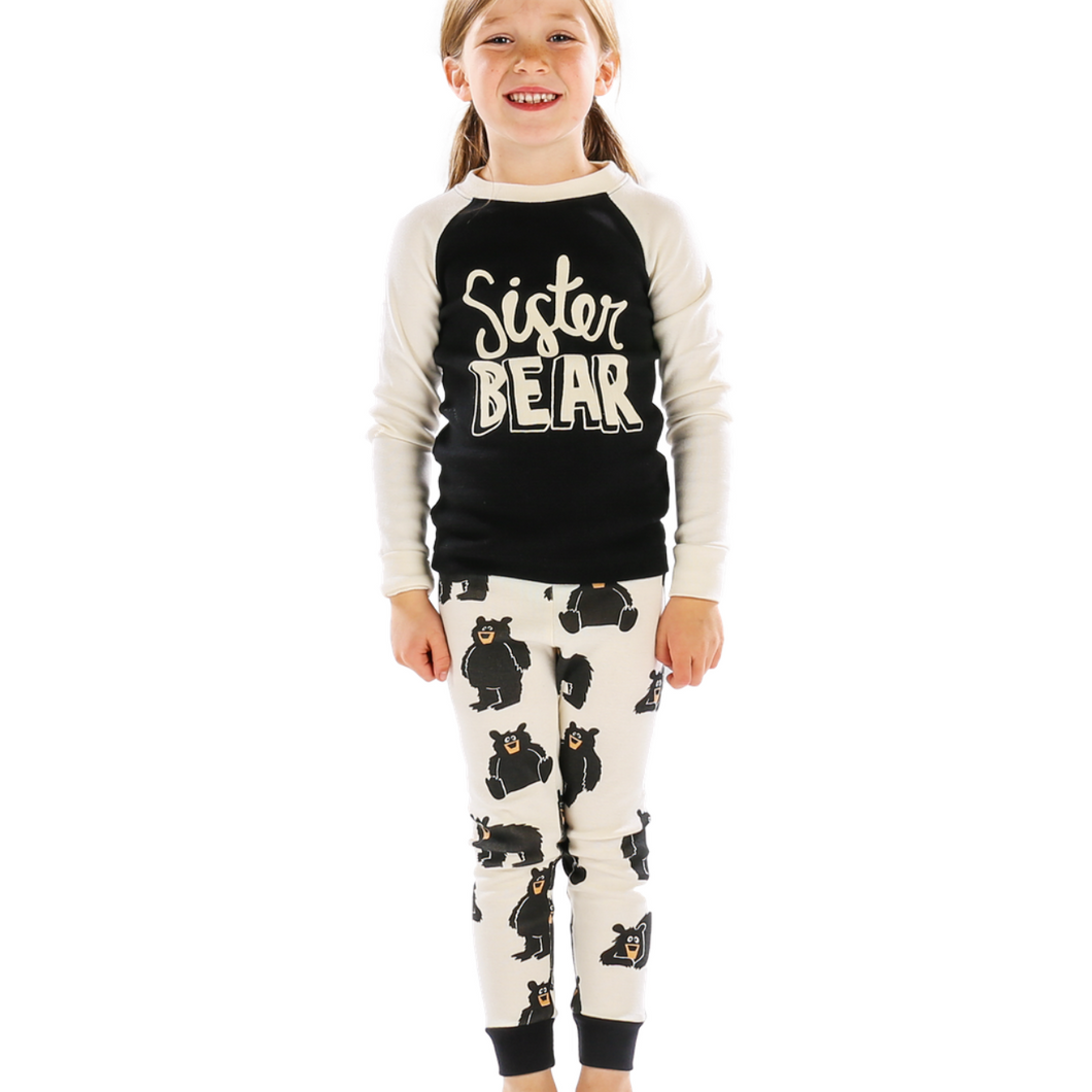 Sister Bear Kid's Long Sleeve PJs