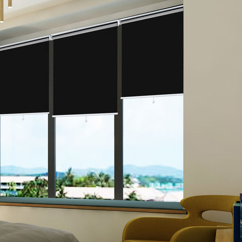 Blackout Window Shades, Cordless Free-Stop UV Protection Water Proof for Home & Office Black, 33x72