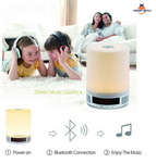 Brand Hot Comfortable Portable Mini LED Light Bluetooth Speakers Popular Design Durable Night Lamp Novelty Speaker