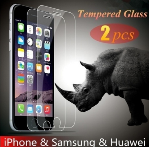 Protective film mobile phone protective screen 2 pieces 9H hardness nano-coated toughened glass film Mobile Phone Protector iPhone 6 Plus