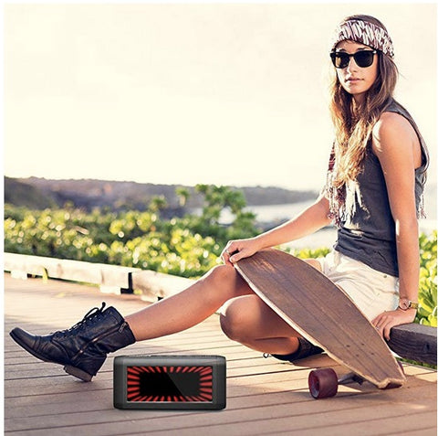Wireless Bluetooth Speakers, Fuleadture Portable Outdoor Home 16W Output HD Bass Stereo Speaker with Microphone and Virtual 3D Bright Lights for All Bluetooth Devices