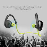 Gobuy Mart Running Headphones, Wireless Bluetooth V4.0 Earbuds Sweatproof Stereo Workout Sports Headphones with Mic for iPhone 7, Samsung Galaxy S8 and Other Smartphones - Green
