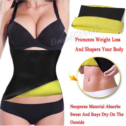 Sweat Waist Trainer Cincher Yoga Neoprene Vest Shaper Corset Weight Loss Belt