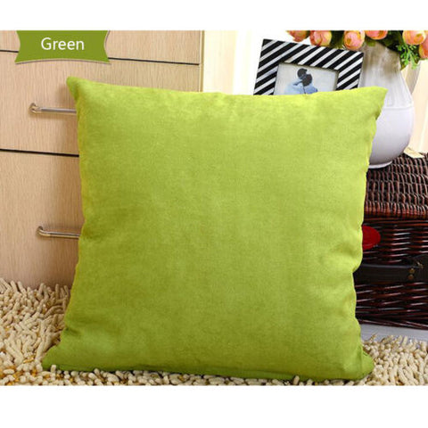 Solid Color Square Home Sofa Decor Pillow Cover Case Cushion Cover Room 45*45cm