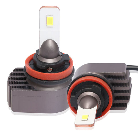2x H8 H9 H11 LED Headlight 72W 5500LM Power Bright Headlamp 6000K Kit