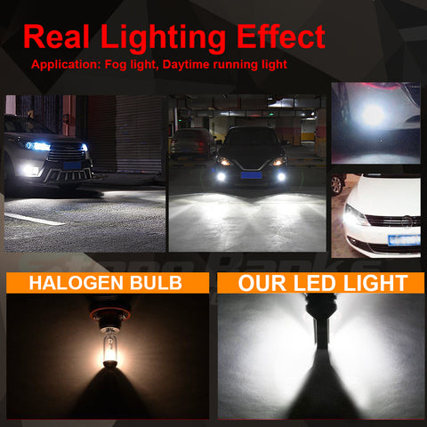 2pcs 9005/HB3/H10/9145/9140 LED Fog Light Bulbs 6000K White Car Lamps Super Bright