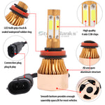4-Sides H11 H8 H9 LED Headlight 72W 16000LM High Power White 6000K Bulbs Kits