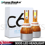 2x 9005 HB3 H10 LED Headlight Bulbs High Beam Bulb 100W 20000LM 6000K White Light