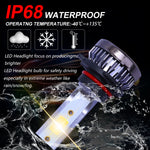 MINI 9006 HB4 LED Headlight Kit COB Beam Bulbs Light Hi/Lo Beam 3000K White Pair