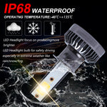 3000K MINI H3 LED Headlight Bulb High Low Beam Lamp COB Front Light 110W 22000LM