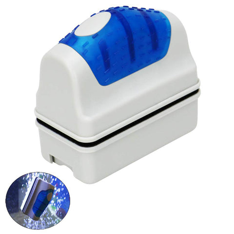 S M L XL Magnetic Brush Aquarium Floating Glass Cleaner Algae Scrubber Fish Tank