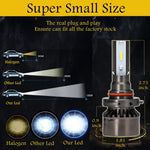 9006 LED Headlight Bulb High Front Light  20000W/Pair  300000lm  6000K High Power