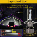 H4 9003 LED Headlight Kit Bulbs Cool White 6500K 2000W 300000LM High Power Lamps