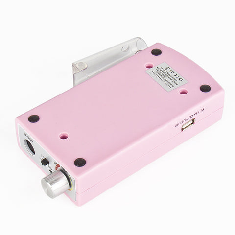 Rechargeable USB Electric Nail File Drill Manicure Pedicure Machine Tool Bit Power Bank