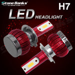 LED H7 Headlight Bulb Mini Hi/Lo Beam Front Light 3000K  Headlamp