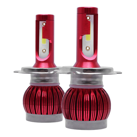 H4 9003 LED Headlight Bulb COB Hi+Lo Beam Forward Front Light 6000K
