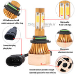 4side LED Headlight Kit HB4 9006  3000K Yellow  Light Bulbs