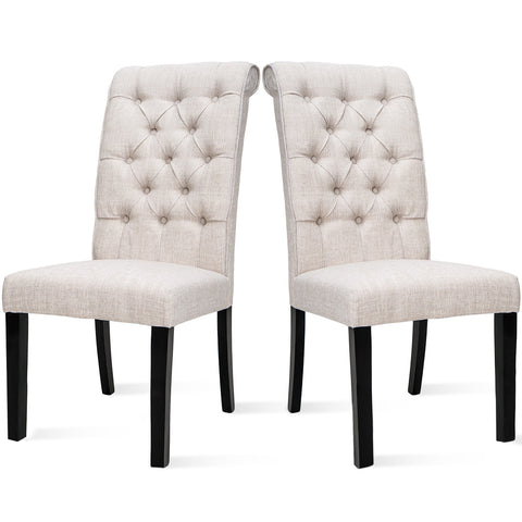 Tufted Arm Dining Accent Chair, Set of 2