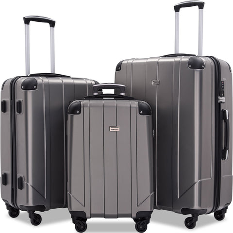 Luggage Sets with TSA Locks, 3 Piece Lightweight P.E.T Luggage